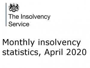 Monthly insolvency statistics, April 2020